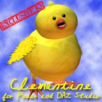 clemantine for poser and daz studio