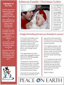 word newsletter template for christmas - red