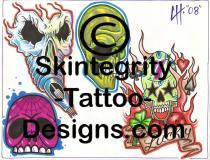 Skull Tattoo Flash   Other Files   Stock Art