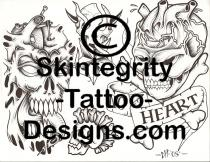 Skull Tattoo Flash | Other Files | Stock Art