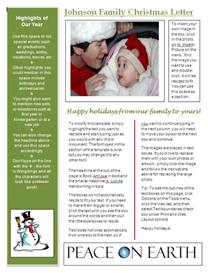word newsletter template for christmas - green