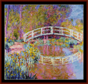 Bridge in Monets Garden - Monet cross stitch pattern by Cross Stitch Collectibles | Crafting | Cross-Stitch | Wall Hangings