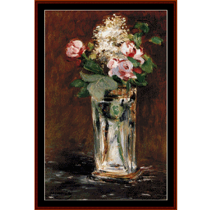 Flowers in Crystal Vase II - Manet cross stitch pattern by Cross Stitch Collectibles | Crafting | Cross-Stitch | Wall Hangings