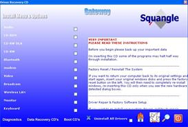 Gateway MX6453 XP drivers restore disk recovery cd driver download iso | Software | Utilities