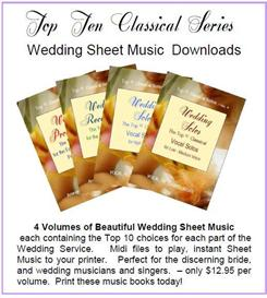 complete classical wedding sheet music album