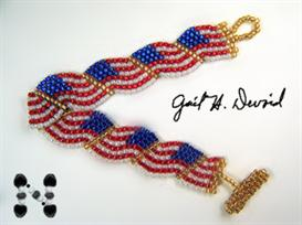 USA Wavy Flag Bracelet Pattern | eBooks | Arts and Crafts