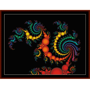 Fractal 119 cross stitch pattern by Cross Stitch Collectibles | Crafting | Cross-Stitch | Wall Hangings