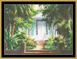 Key West Porch | Crafting | Cross-Stitch | Wall Hangings