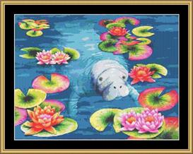 Manatee Hi Tea | Crafting | Cross-Stitch | Other