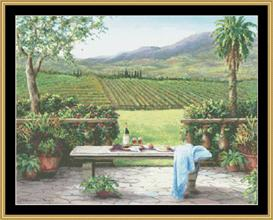 Overlooking Vineyard | Crafting | Cross-Stitch | Other