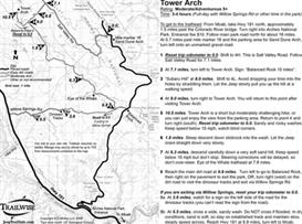 Tower Arch Moab Utah Arches Natl Park 4x4 Jeep Trail Map BW printable | eBooks | Outdoors and Nature