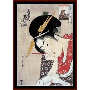 Ogiya Hanaogi - Asian Art cross stitch pattern by Cross Stitch Collectibles | Crafting | Cross-Stitch | Wall Hangings