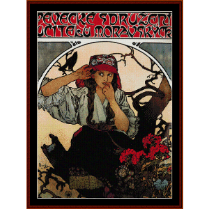 Moravian Teachers Choir 1911 - Mucha cross stitch pattern by Cross Stitch Collectibles | Crafting | Cross-Stitch | Wall Hangings
