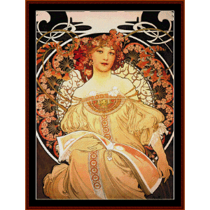 Reverie - Mucha cross stitch pattern by Cross Stitch Collectibles | Crafting | Cross-Stitch | Wall Hangings