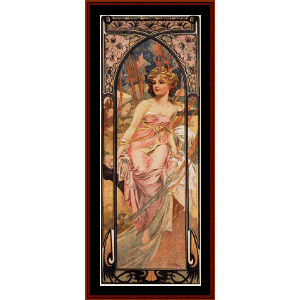 Morning Awakening - Mucha cross stitch pattern by Cross Stitch Collectibles | Crafting | Cross-Stitch | Wall Hangings