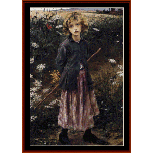 young girl - bastien lepage cross stitch pattern by cross stitch collectibles