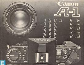 canon a-1 35mm camera instruction manual