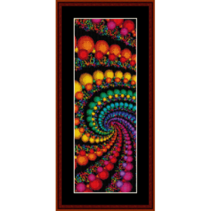 fractal 156 bookmark cross stitch pattern by cross stitch collectibles