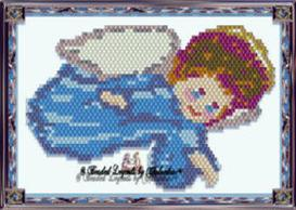 Little Blue Flying Angel Ornament or Pendant   eBooks   Arts and Crafts