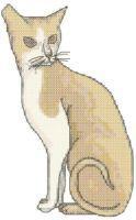 Sitting Cat Cross Stitch Pattern   eBooks   Arts and Crafts
