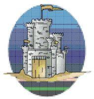 Castle Cross Stitch Pattern | eBooks | Arts and Crafts