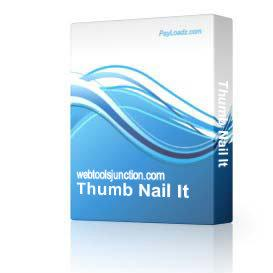Thumb Nail It | Software | Design