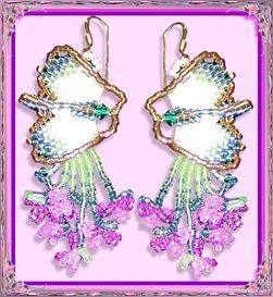 Oriental Garden Butterfly Earrings | eBooks | Arts and Crafts
