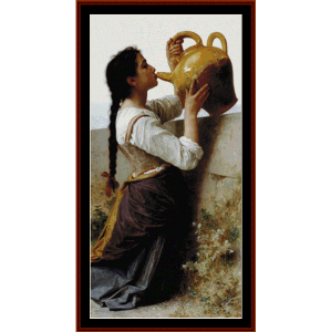thirst - postersize - bouguereau cross stitch pattern by cross stitch collectibles