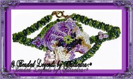 Pretty Pansies Bracelet | eBooks | Arts and Crafts