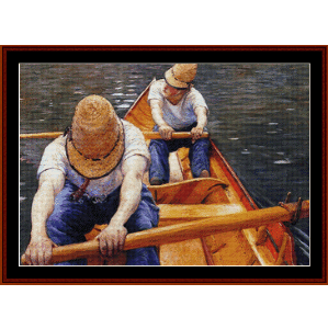 oarsmen - caillebotte cross stitch pattern by cross stitch collectibles