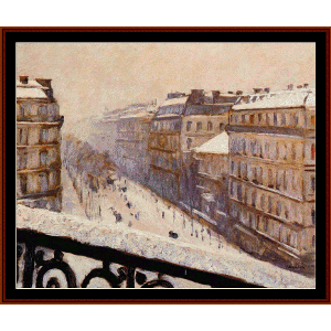 Boulevard Haussman - Caillebotte cross stitch pattern by Cross Stitch Collectibles | Crafting | Cross-Stitch | Wall Hangings