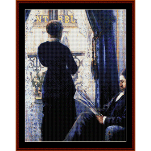 Interior - Caillebotte cross stitch pattern by Cross Stitch Collectibles | Crafting | Cross-Stitch | Other