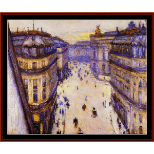 Rue Halevy - Caillebotte cross stitch pattern by Cross Stitch Collectibles | Crafting | Cross-Stitch | Wall Hangings
