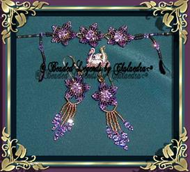 Posies Bracelet and Earrings Set | eBooks | Arts and Crafts