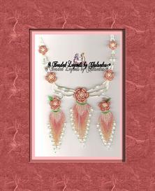 Beaded Irish Rose Necklace and Earrings Set | eBooks | Arts and Crafts