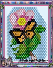 Tearose and Butterfly Panel | eBooks | Arts and Crafts
