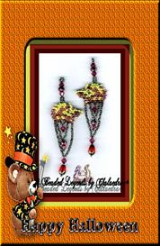 Pumpkin H Kitten Earrings | eBooks | Arts and Crafts