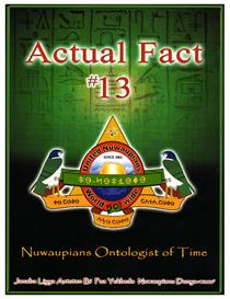 actual fact 13 nuwaupians ontologist of time