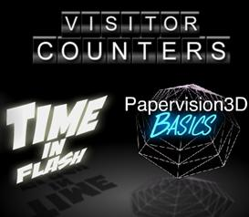 Combo Discount- Papervision3D - Time in Flash - Flash Visitor Counter | Movies and Videos | Educational