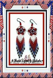 Three -Dimensional RWB Earrings | eBooks | Arts and Crafts