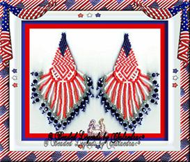Red and White Stars and Stripes Earrings | eBooks | Arts and Crafts