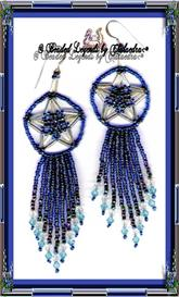 Blue 3-D Star Earrings | eBooks | Arts and Crafts