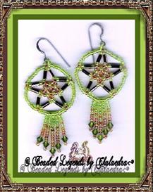 Bugle Circle Star Earrings | eBooks | Arts and Crafts