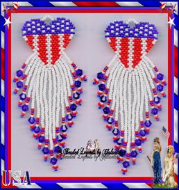 Star Spangled Heart Earrings | eBooks | Arts and Crafts