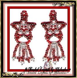 Red and Silver Star Earrings | eBooks | Arts and Crafts