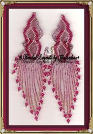 Fuschia Flames Earrings | eBooks | Arts and Crafts