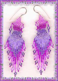 Pink and Purple Ripple Earrings | eBooks | Arts and Crafts