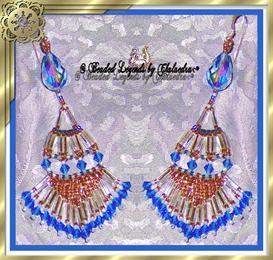 Queens Crystal and Baguette Earrings | eBooks | Arts and Crafts