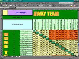 20 Team Football League Table