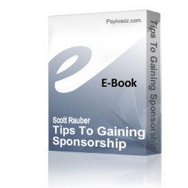 tips to gaining sponsorship